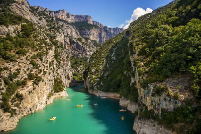 Ballade en canoë dans les Gorge du Verdon