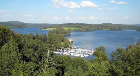 Panorama sur le lac de Vassivière