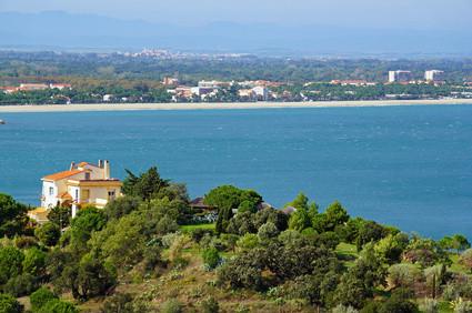 La plage d'Argelès-sur-Mer vue du Racou